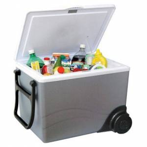 Koolatron W75 12V Kargo Electric Cooler/Warmer With Built-In Handle And Wheels (36 Quarts/34 Liters)