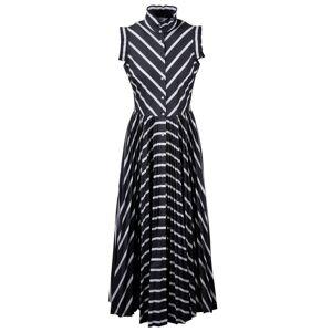 Sara Roka Striped Chemisier Dress  - female