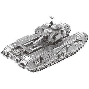 Playtastic 3D-Bausatz Panzer aus Metall im Massstab 1:100, 48-teilig