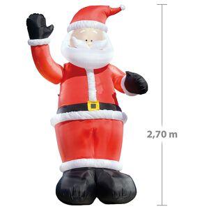 infactory Winkender Leucht-Weihnachtsmann, aufblasbar, 270 cm