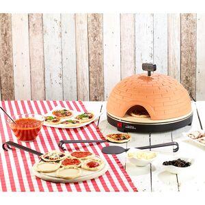 Cucina di Modena Premium Pizzaofen mit Terrakotta-Haube, Schamottenstein-Platte, Ø 40cm