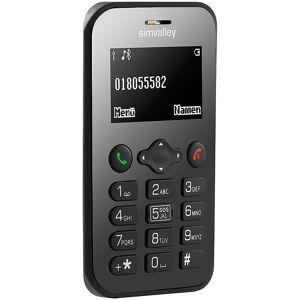 simvalley MOBILE Scheckkarten-Handy Pico RX-486 mit BT, Garantruf, GPS