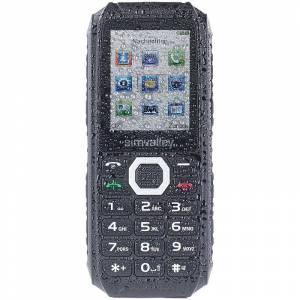 simvalley MOBILE Outdoor-Dual-SIM-Handy, Powerbank-Akku 4400mAh, IP67, 30 Tage Stand-by