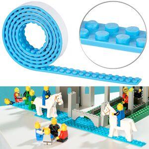 infactory Selbstklebendes Spielbaustein-Tape für gängige Systeme, 1 m, hellblau