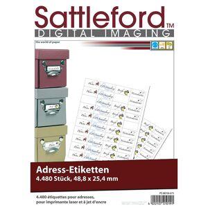 Sattleford 4480 Adress-Etiketten Mini 48,8x25,4 mm für Laser/Inkjet