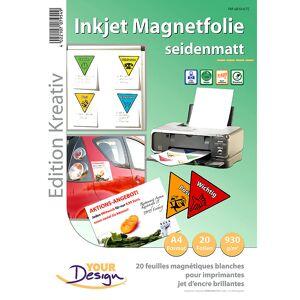 Your Design 20 Inkjet-Magnetfolien A4 matt/weiss
