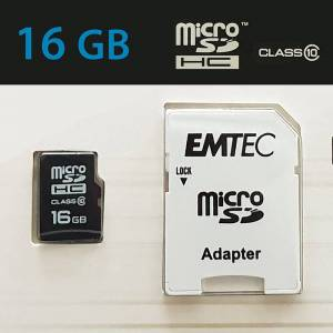 EMTEC MicroSD Classic Gold 16GB inkl. Adapter