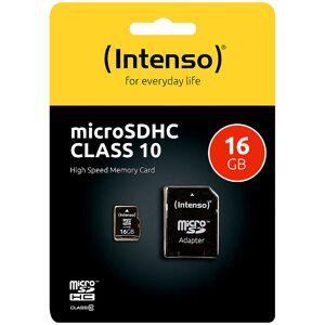Intenso microSDHC-Speicherkarte 16 GB Class 10 inkl. SD-Adapter