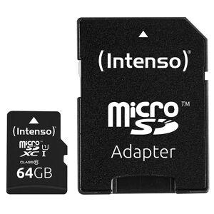 Intenso microSDXC-Speicherkarte UHS-I Premium 64 GB, bis 40 MB/s, Class 10/U1