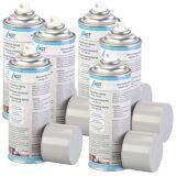AGT 6er-Set Allesdichter-Sprays mit 6x 400 ml, schwarz