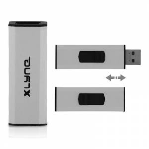 Xlyne 32 GB USB-Speicherstick Silverborn Flashspeicher USB-Stick silber