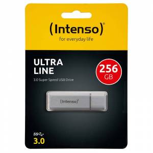 Intenso Ultra Line USB-3.0-Speicherstick mit 256 GB, silber