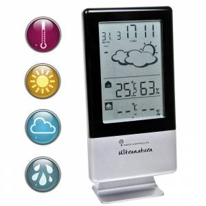 Ultranatura Wetterstation UN900 Funkuhr & externer Thermo-Hygro Sensor