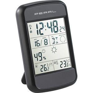 Pearl Digitale Wetterstation FWS-90 mit Funkuhr, Weckalarm & Wetterprognose