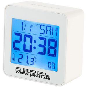 Pearl Kompakter Digital-Funkwecker mit Temperaturanzeige und Kalender