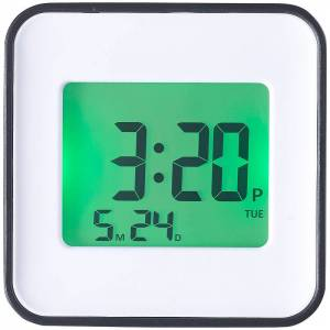 infactory LCD-Wecker, zwei Weckzeiten, Programmierung per iOS & Android App