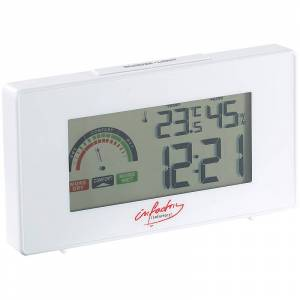 infactory Digitaler Funkwecker mit Thermometer und Hygrometer