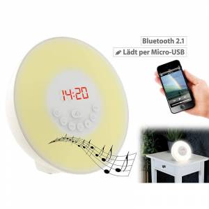 auvisio Wake-up-LED-Radiowecker mit Bluetooth & Sonnenaufgangs-Simulation