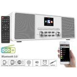 VR-Radio Stereo-Internetradio mit CD-Player, DAB+/FM & Bluetooth, 40 Watt, weiss