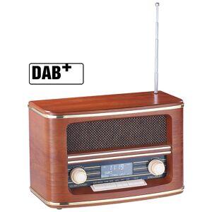 auvisio Digitales Nostalgie-Stereo-Radio mit DAB+, Bluetooth 3.0, FM & Wecker