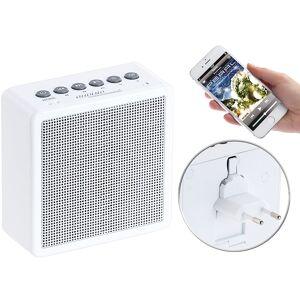 auvisio UKW-Steckdosenradio mit Bluetooth, Freisprecher, USB-Ladeport, AUX-in