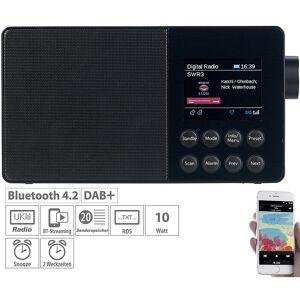 VR-Radio Mobiles Akku-Digitalradio mit DAB+, FM, Bluetooth & Farbdisplay, 6 W