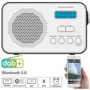 VR-Radio Mobiles Akku-Digitalradio mit DAB+ & FM, Wecker, Bluetooth 5, 8 Watt