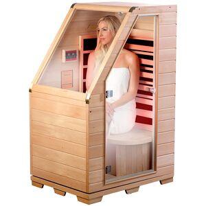 newgen medicals Kompakte Infrarot-Sitzsauna aus Hemlock-Holz, 760 W, 0,62 m²