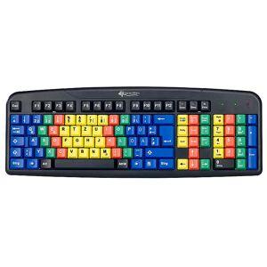 GeneralKeys USB-Übungs-Tastatur mit Farbkodierung für 10-Fingersystem