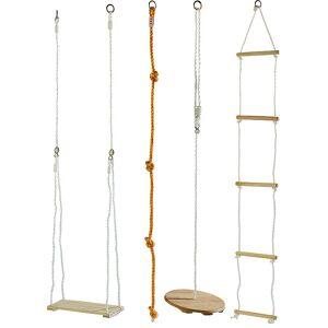 Playtastic 4-teiliges Schaukel- und Kletterset für Kinder