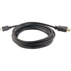 auvisio High-Speed-Adapterkabel Micro-HDMI auf HDMI, für 4K, 3D & Full HD, 3 m