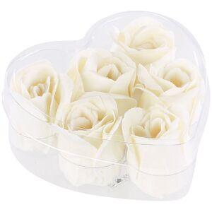 Pearl 6 cremeweisse Rosen-Duftseifen in Geschenk-Box