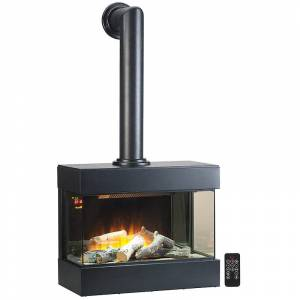 Carlo Milano Nostalgie-Elektro-Wandkamin mit 3D-Flammeneffekt, 2.000 Watt, 60 cm