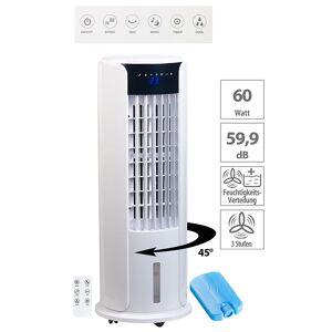 Sichler Haushaltsgeräte 3in1-Luftkühler, Turmventilator und Luftbefeuchter, 60 Watt, 3-l-Tank