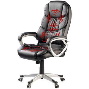 newgen medicals Bequemer Büro-Chef-Sessel mit Vibrations-Massagefunktion