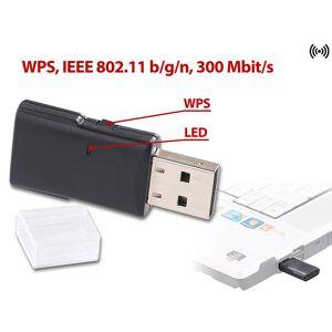 7links Mini-USB-WLAN-Stick WS-300 mit 300 Mbit/s und WPS-Taste