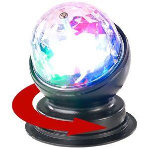 Lunartec Rotierende 360°-Disco-Leuchte mit RGB-LED-Farbeffekten, 3 Watt