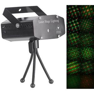 Lunartec Indoor-Laser-Projektor mit 12 Leuchtmustern, Sound-Steuerung, grün/rot