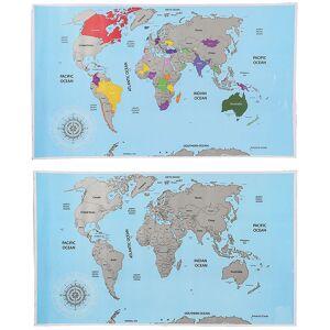 Out of the blue Rubbel-Weltkarte - Scratch-Map - Weltkarte zum Rubbeln