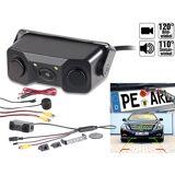 Lescars Farb-Rückfahrkamera & Einparkhilfe m. Abstandswarner, LED-Ausleuchtung