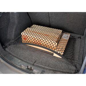 Lescars Universal Kofferraum Gepäcknetz, 70 x 70cm dehnbar, inkl. Klammern