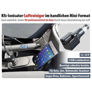 revolt 2in1-12/24-V-Kfz-Ionisator-Luftreiniger & USB-Netzteil, 2,1 A