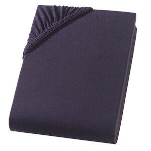 PREMIUM, Einzelbett Qualitäts-Jersey Fixleintuch, schwarz