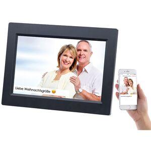 Somikon WLAN-Bilderrahmen mit 25,7-cm-IPS-Touchscreen & weltweitem Bild-Upload