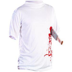 "infactory Halloween T-Shirt ""Machete in der Brust"", Gr. XL"