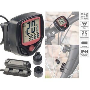Pearl Digitaler 15in1-Fahrrad-Computer mit LCD-Display & Radsensor, IP44