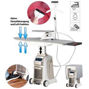 Sichler Haushaltsgeräte Aktiv-Bügeltisch mit Dampfbügelstation und Dampfbürste, 2.200 Watt