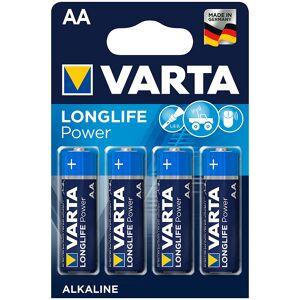 Varta Longlife Power Alkaline-Batterie, Typ AA/Mignon/LR6, 1,5 V, 4er-Set