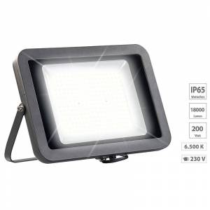 Luminea Wetterfester LED-Fluter, 200 W, 18.000 lm, IP65, 6.500K tageslichtweiss