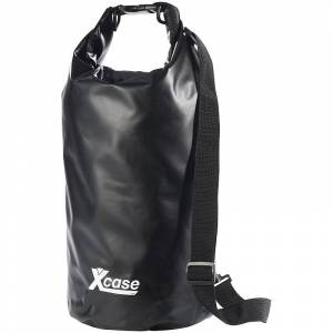 Xcase Wasserdichter Packsack 16 Liter, schwarz